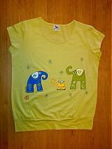 Tričká - tričko SLONÍKY ŠŤASTIA - 464061