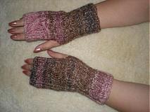 Rukavice - Ručne pletené rukavice-melírované - 465373
