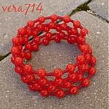 Náramky - Červenučko červené - 469347