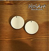 Materiál ručne robený - Základ na náušnice kruh 3,5 cm - 472685