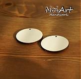 Materiál ručne robený - Základ na náušnice kruh 3,5 cm - 472686