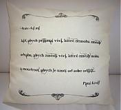 Úžitkový textil - Mudry vankúšik... - 473221
