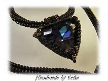 - Heliotrope triangle - náhrdelník s príveskom - 4738