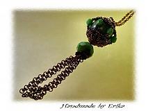 Náhrdelníky - Turquoise + copper - náhrdelník - 4743
