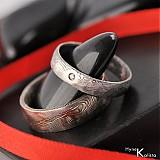 Prstene - Svadobná obrúčka z nerezové oceli damasteel - PRIMA + diamant 1.5mm  - 488239