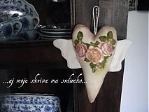Dekorácie - Srdiečko s krídlami - vintage - 488554