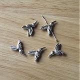 Korálky - 1271-0482 Korálik kolibrík 18x12 mm, starostrieborný, 1ks - 495208