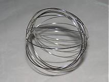 Suroviny - Pamäťový drôt-platina-10 ot. - 509225