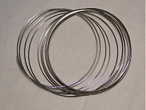 Suroviny - Pamäťový drôt-platina-10 ot. - 509227