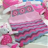 Detské oblečenie - Háčkované šatičky - 514126