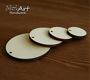Materiál ručne robený - Základ na náušnice kruh 3,5 cm - 516376