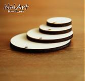Materiál ručne robený - Základ na náušnice kruh 3,5 cm - 516377
