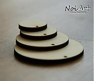 Materiál ručne robený - Základ na náušnice kruh 3,5 cm - 516379