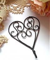 Dekorácie - ♥ srdce ♥- vešiak 1 ks - 517077