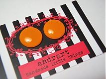 Náušnice -  kolekcia lentilky-oranžové - 52115