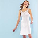 Návody a literatúra - Bílé pletené šaty - návod - 524931
