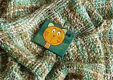 Kľúčenky - kľúčenka-Zelená mačička ako trávička  - 53664
