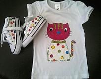 Tričká - súpravka Cica, tričko s teniskami - 554744