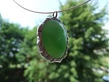 Náhrdelníky - Zelené slniečko - 564132