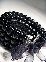 Náramky - Black Pearls - 567437