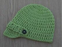 - Zelená - chlapčenská čiapka - 569557