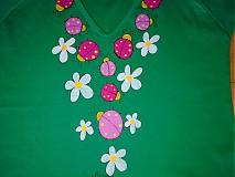 Tričká - tričenko lienkové - 581248