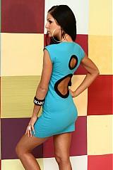Šaty - Tyrkysové šaty - 590012