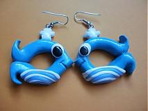 Náušnice - Nafukovacie rybičky - 596595