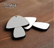 Materiál ručne robený - Hríbiky - 610415