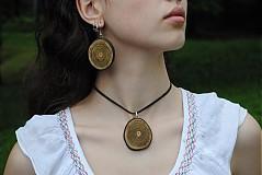 Sady šperkov - green wood -komplet - 611001