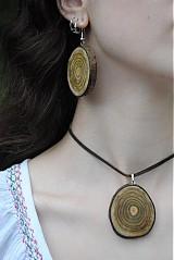 Sady šperkov - green wood -komplet - 611002