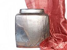 Dekorácie - váza bronzová kocka - 616237