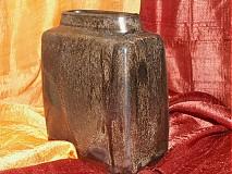 Dekorácie - váza bronzová kocka - 616238