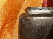 Dekorácie - váza bronzová kocka - 616239