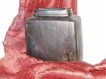Dekorácie - váza bronzová kocka - 616240