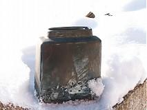Dekorácie - váza bronzová kocka - 616241
