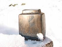 Dekorácie - váza bronzová kocka - 616242