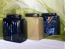 Dekorácie - váza bronzová kocka - 627040
