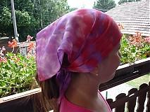 Detské čiapky - Šatka pink - 651201