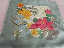 Úžitkový textil - Maľovaný vankúš - lúka - 654204
