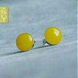 Náušnice - Citronky - stříbro - 654301