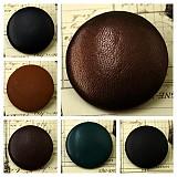 Materiál ručne robený - Buttony potiahnuté kožou 38 mm - 659603