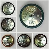 Materiál ručne robený - Buttony potiahnuté kožou 38 mm - 659604