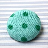 Drobnosti - Buttonky / poťahované gombíky 26 mm Mojito - 681107