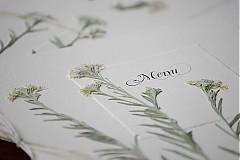 Papiernictvo - KVITNÚCA LÚKA svadobné menu - 684348