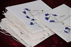 Papiernictvo - KVITNÚCA LÚKA svadobné menu - 684349