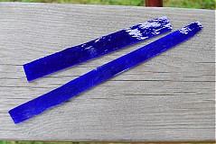 Sklo na spekanie modré
