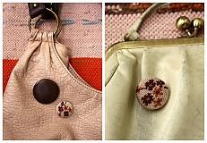 Materiál ručne robený - Buttony potiahnuté kožou 38 mm - 685968