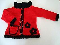 Detské oblečenie - Háčkovaný svetrík - 696617