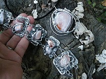 Sady šperkov - 3v1 - Achátový set_OB - 709349